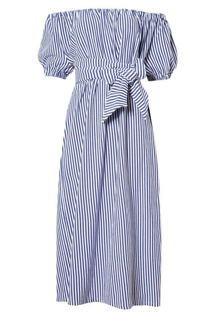 Marina Dress Cobalt Stripe