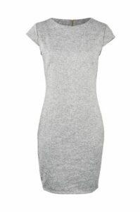 Knitted Curve Hem Dress
