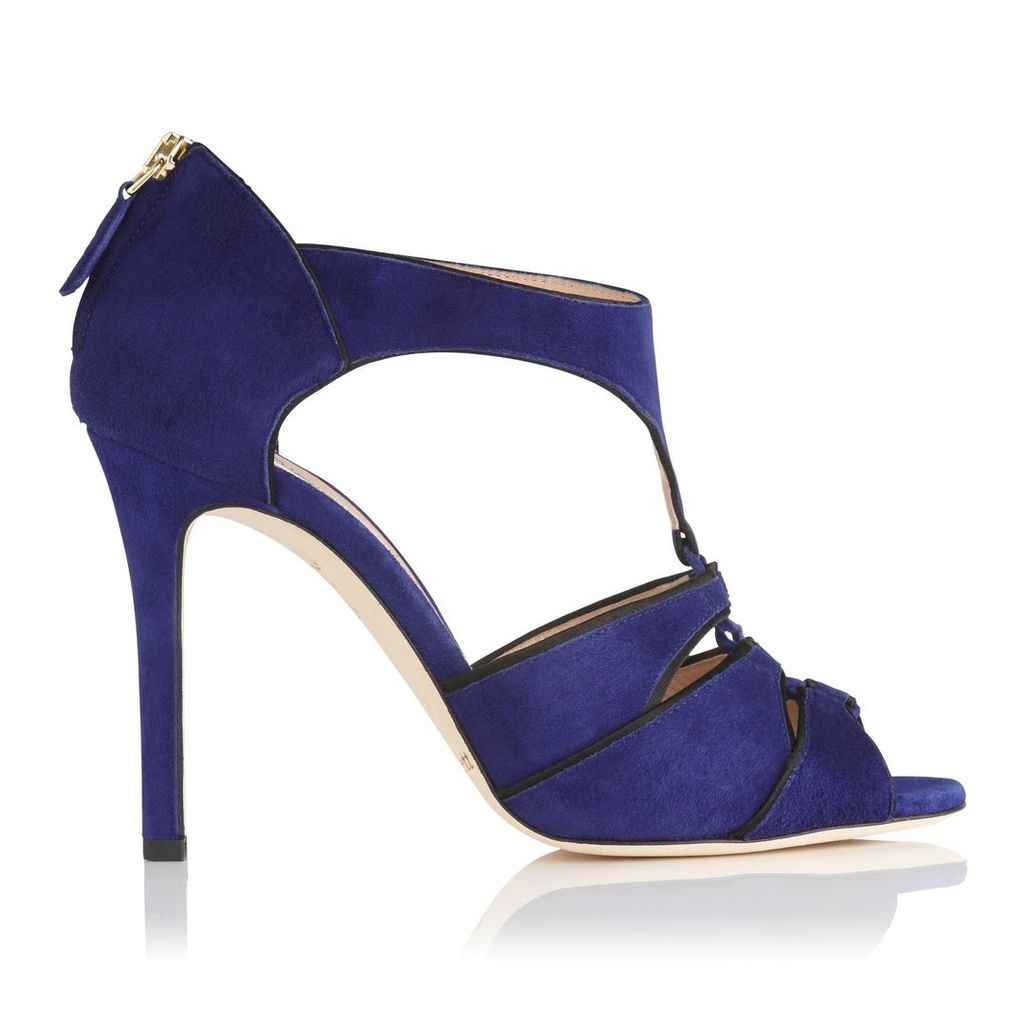 Vanessa Blue Suede Formal Sandals