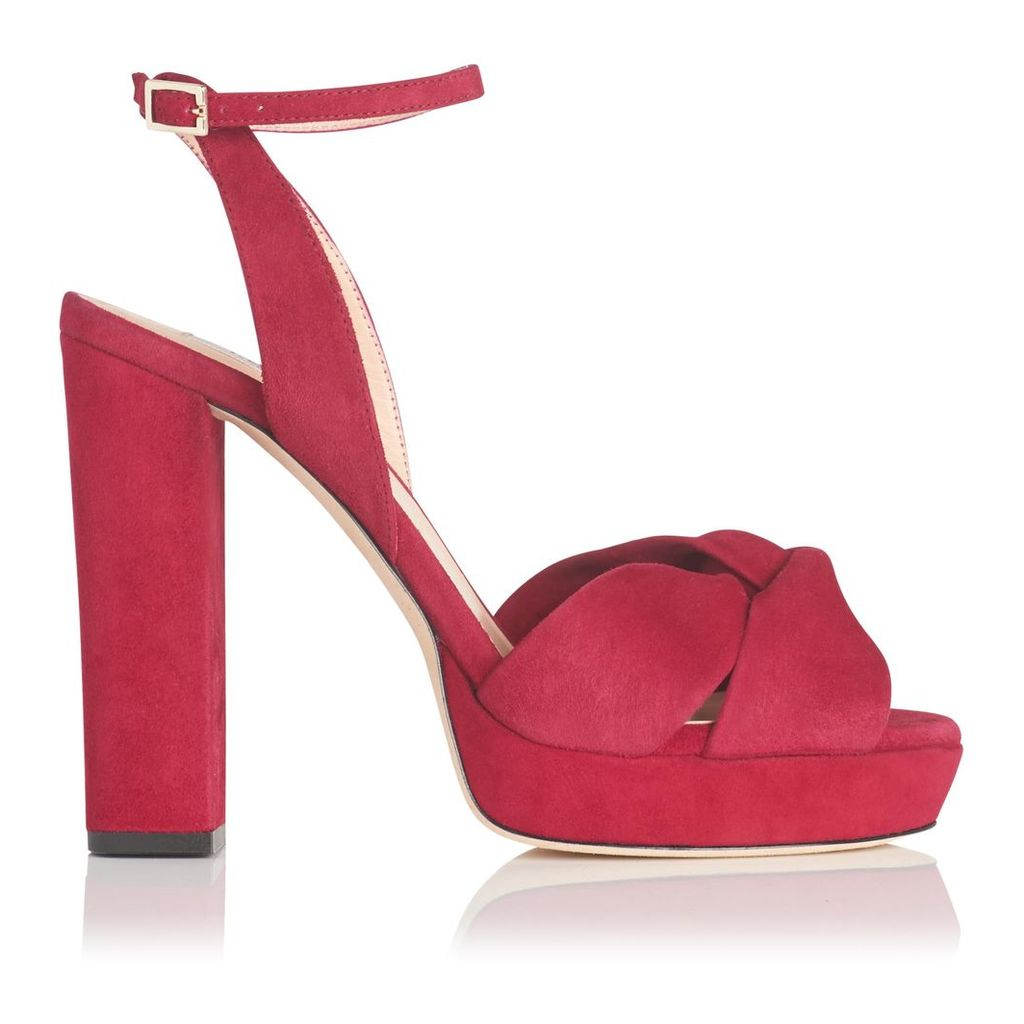 Annabella Red Suede Formal Sandals