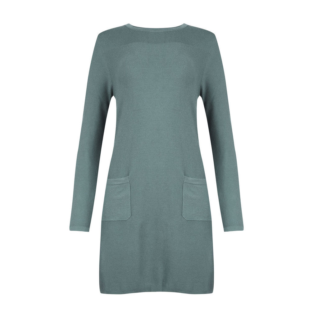 Green Tunic with Patch Pocket Detail