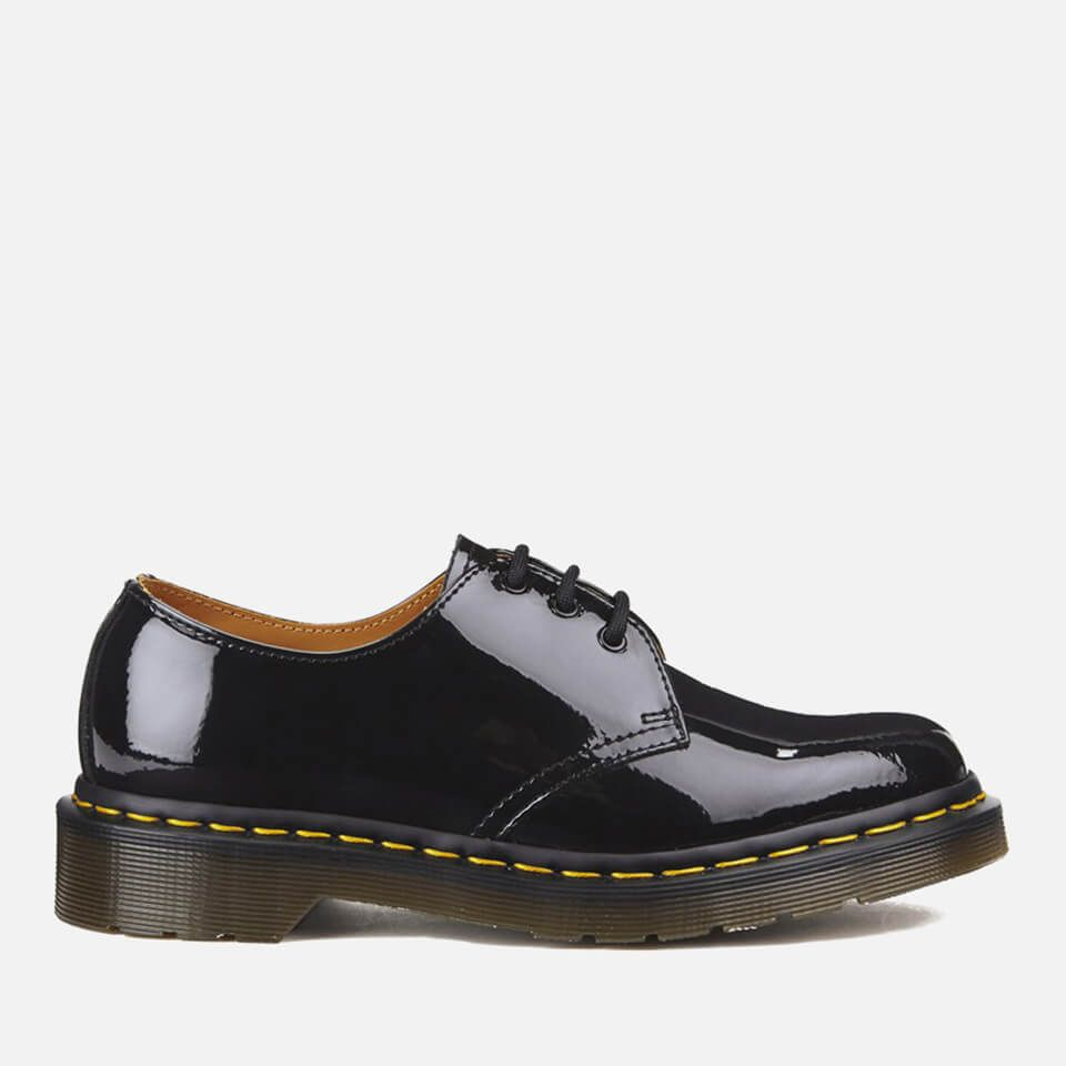 Dr. Martens Women's 1461 W Patent Lamper 3-Eye Shoes - Black - UK 8 - Black