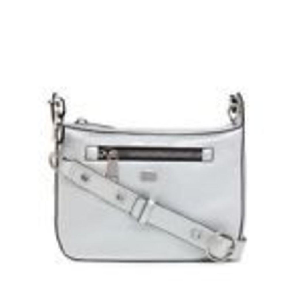 Star By Julien Macdonald Womens Sliver Zip Detail Cross Body Bag From Debenhams