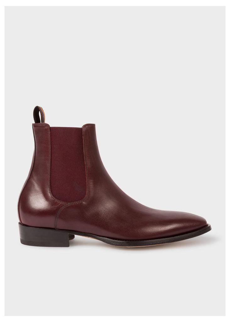 Men's Bordeaux Leather 'Bobby' Chelsea Boots