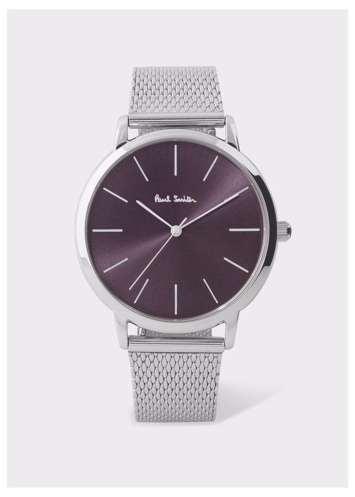 Special Edition 38mm Violet And Stainless Steel 'Ma' Watch
