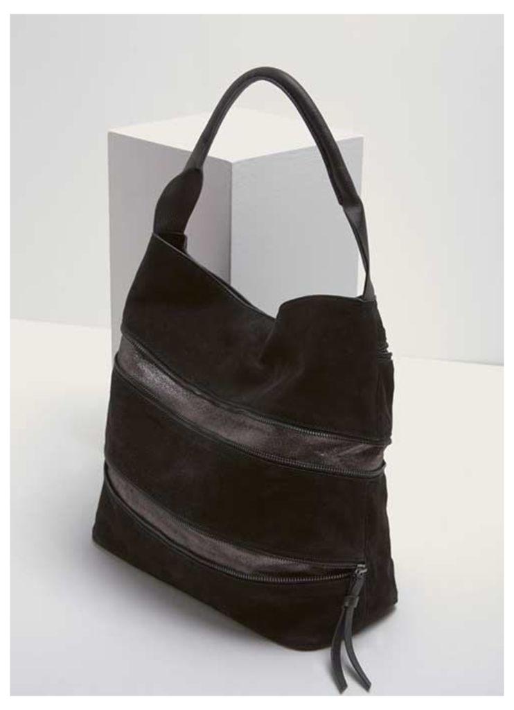 Maggie Black Expandable Bag