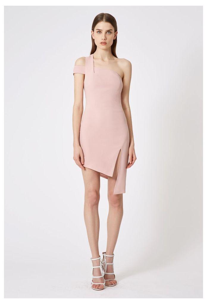 Candice One Shoulder Mini Dress - Pink
