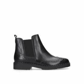 Carvela Still - Black Flat Ankle Boots