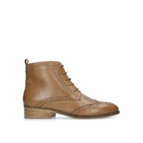 Carvela Toby - Tan Flat Lace Up Boots