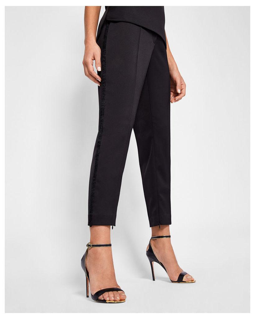Ted Baker Fringe seam trousers Black