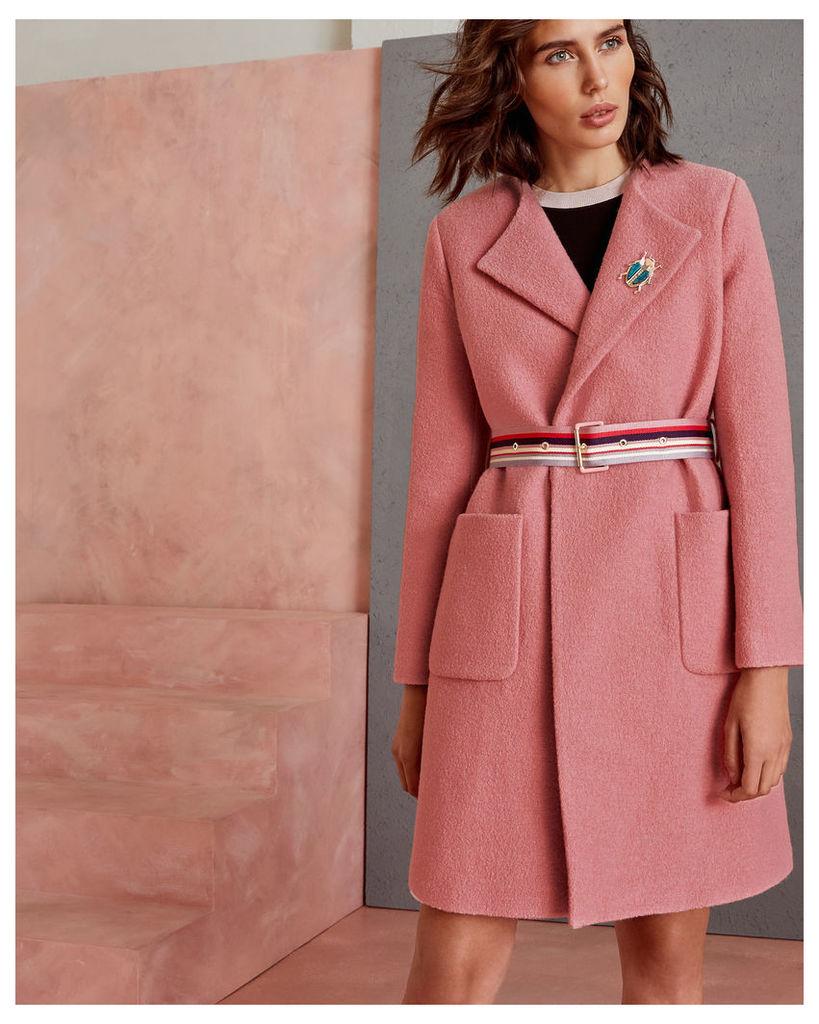 Ted Baker Wool wrap coat Pink