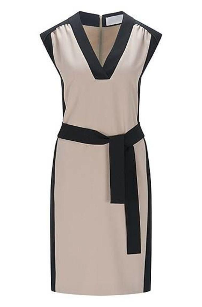Regular-fit dress in technical crêpe