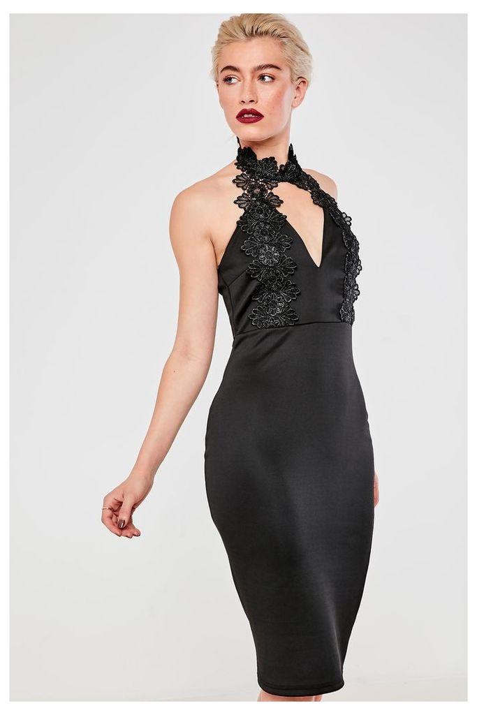 AX Paris Halterneck Choker Dress - Black