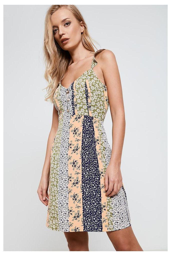 Vero Moda Empire Line Floral Print Dress - Multi