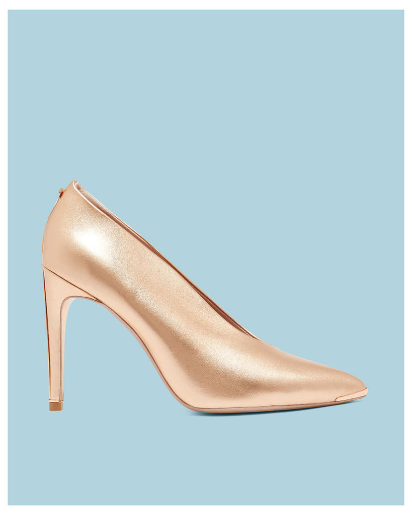 Ted Baker Bow heel high vamp courts Rose Gold