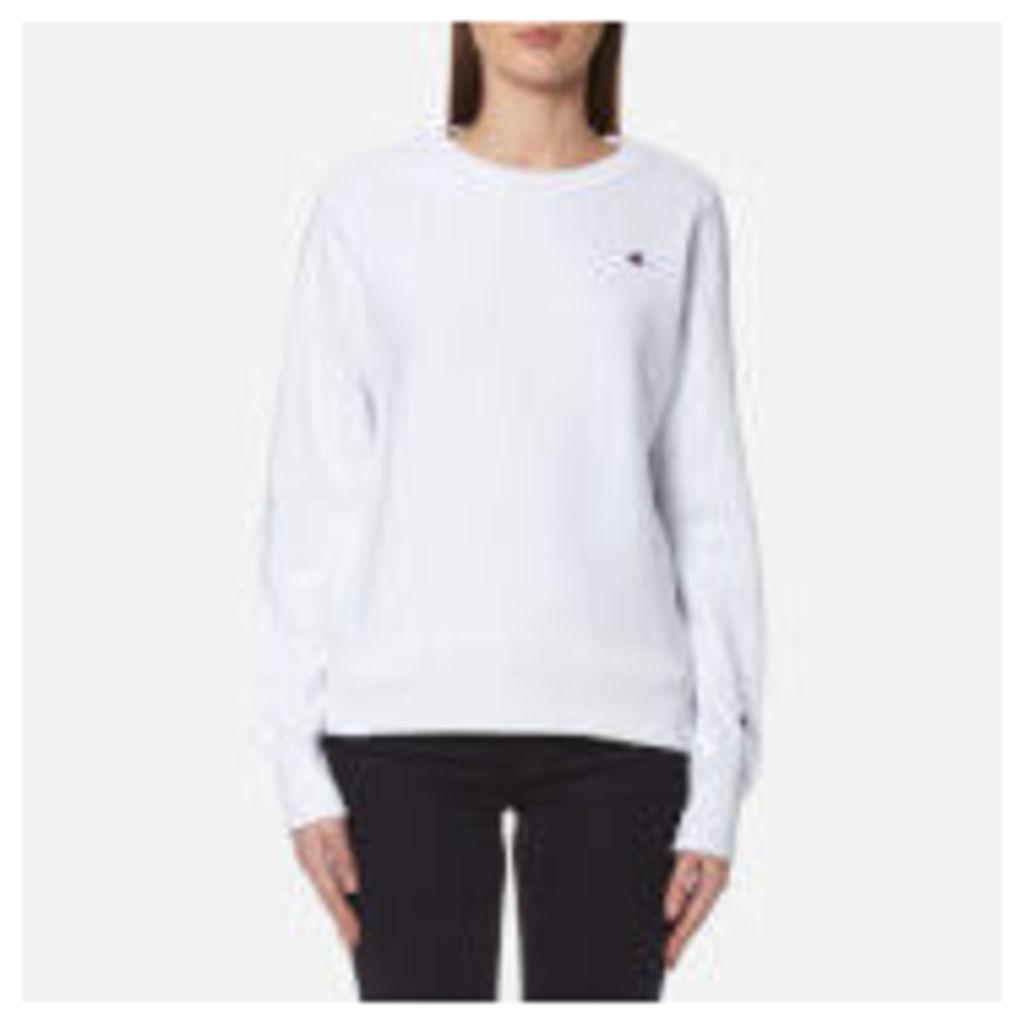 Champion Women's Crew Neck Sweatshirt - White - M - White