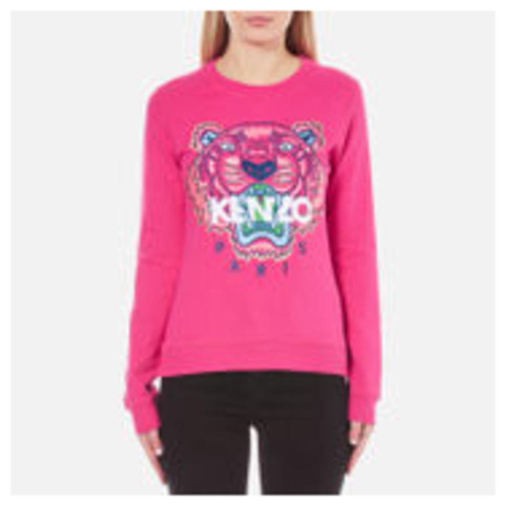 KENZO Women's Embroidered Tiger Sweatshirt - Deep Fuchia - XS - Pink