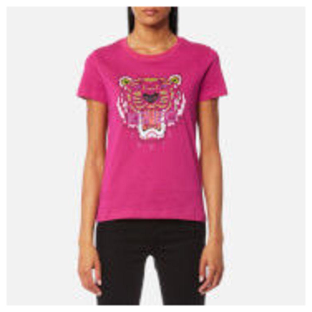 KENZO Women's Tiger Classic T-Shirt - Deep Fuchsia - XS - Pink