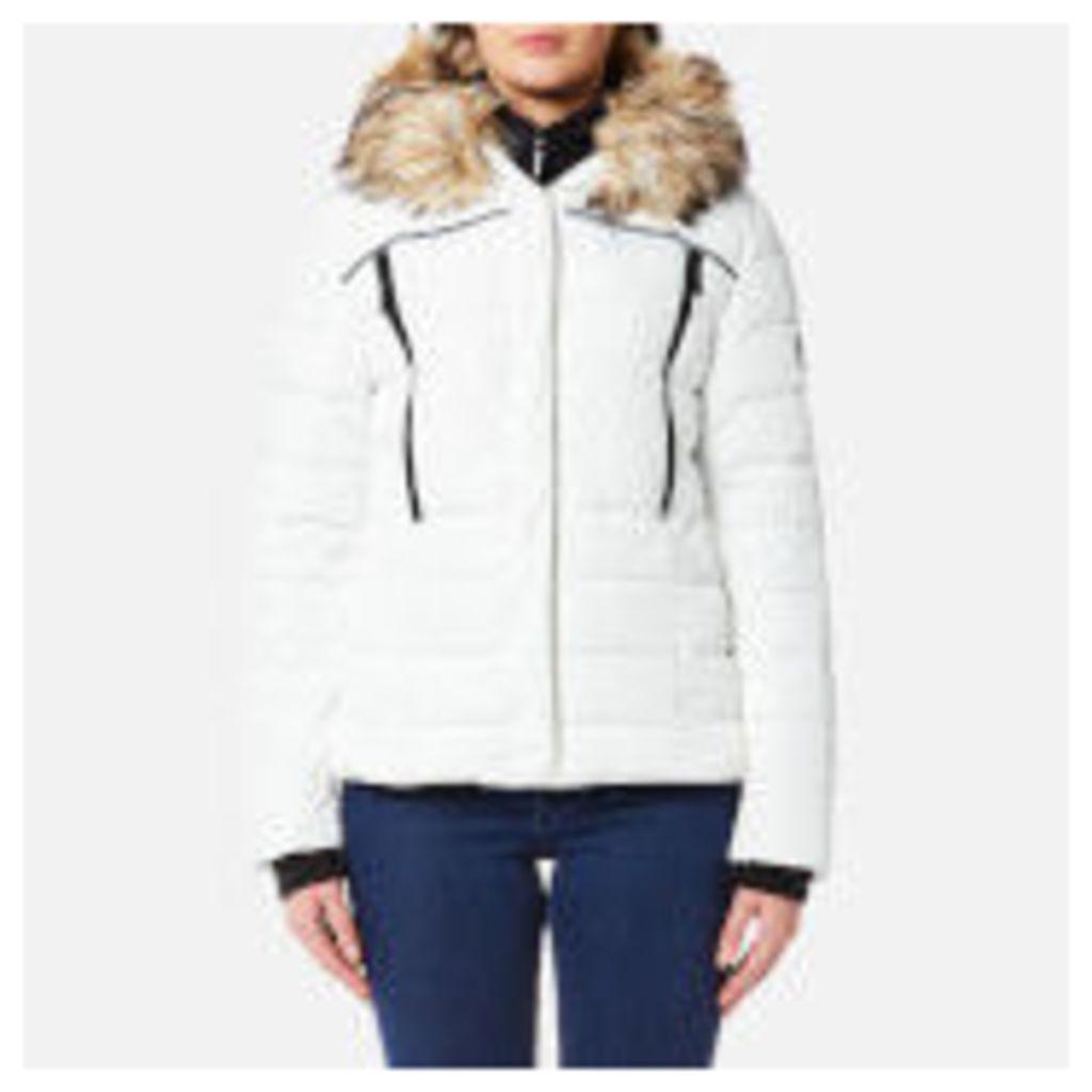 Superdry Women's Glacier Biker Coat - White - M - White