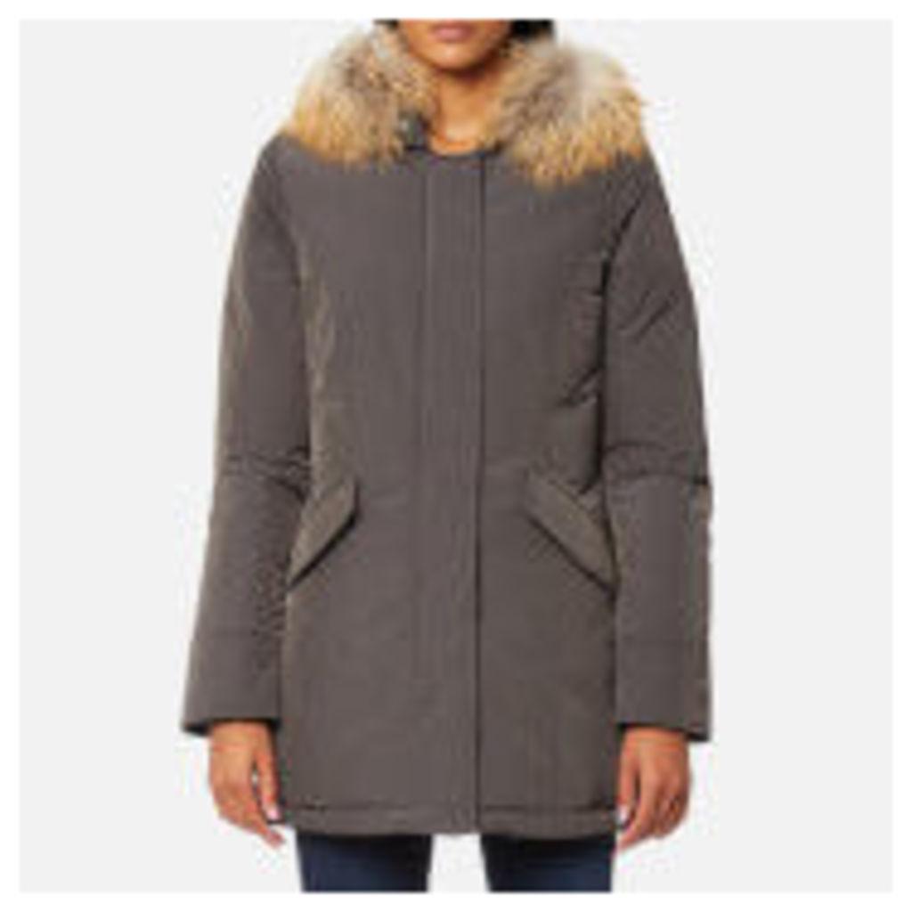 Woolrich Women's Luxury Arctic Raccoon Fur Parka - Forged Grey - M - Grey
