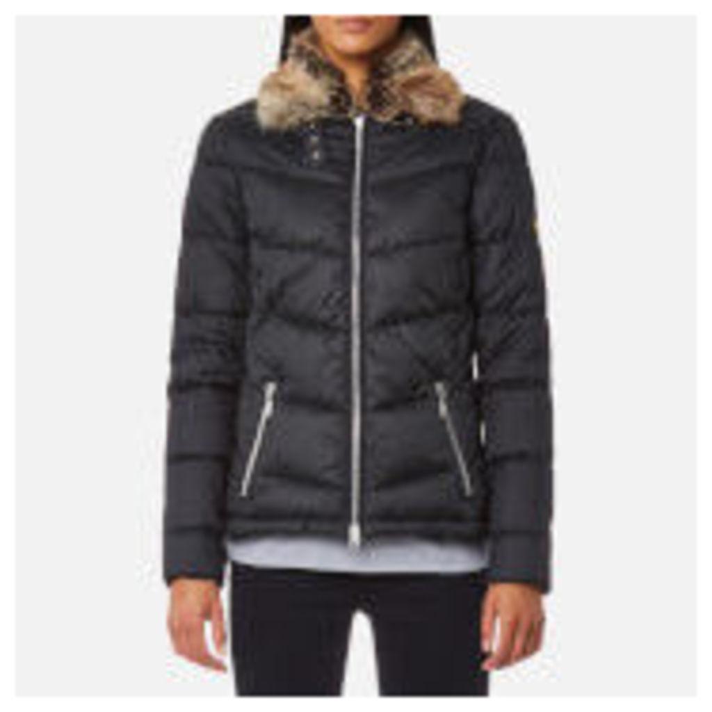 Barbour International Women's Garvie Quilt Coat - Black - UK 10 - Black