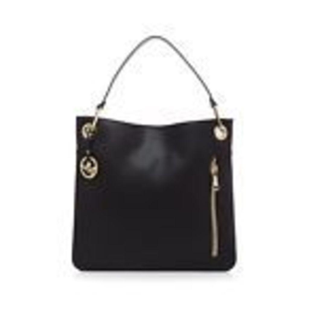 Star By Julien Macdonald Womens Black Zip Detail Shoulder Bag From Debenhams
