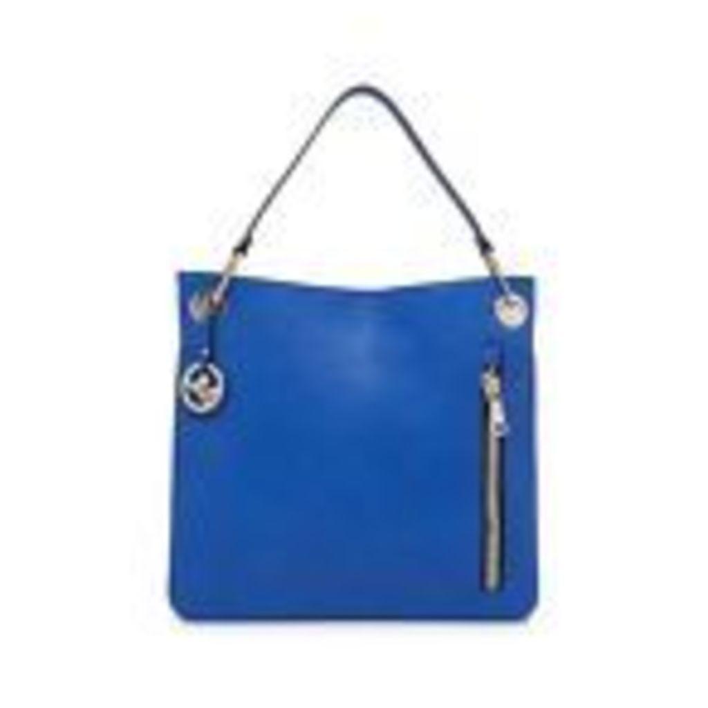 Star By Julien Macdonald Womens Blue Zip Detail Shoulder Bag From Debenhams