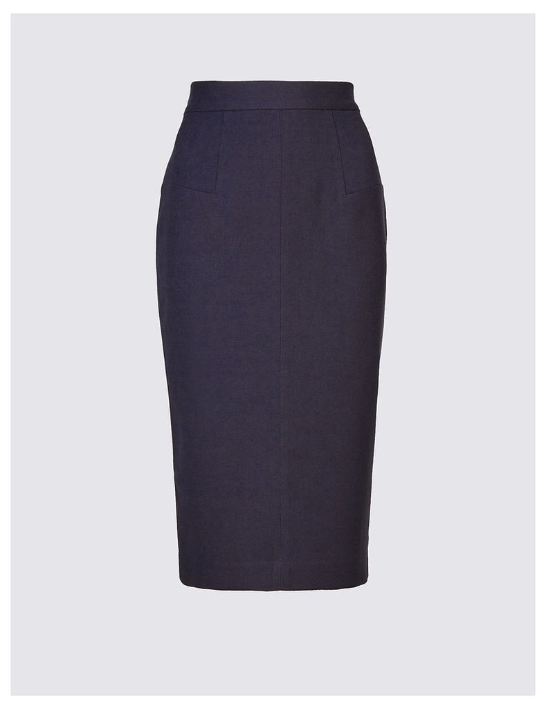 M&S Collection Patch Detail Pencil Midi Skirt