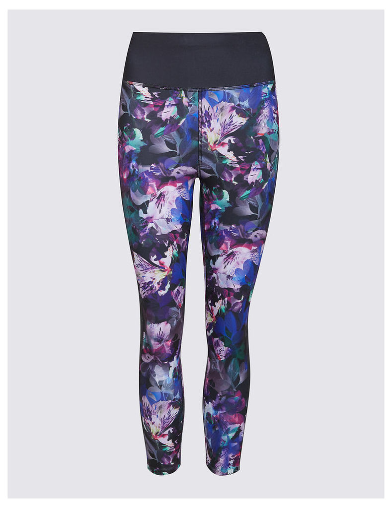 M&S Collection Floral Print Cropped Leggings