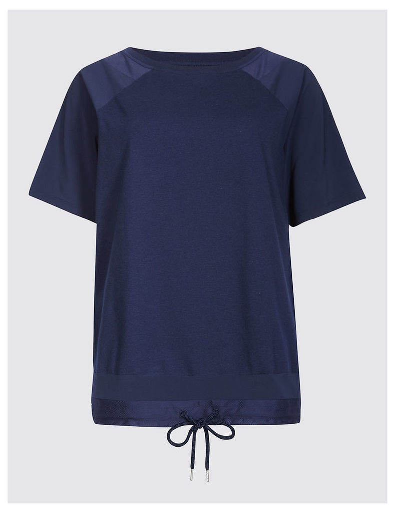 M&S Collection Bubble Mesh T-Shirt