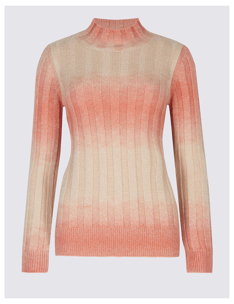 M&S Collection Textured Ombre Turtle Neck Jumper