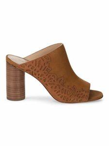 Helaine Nubuck Leather Mules