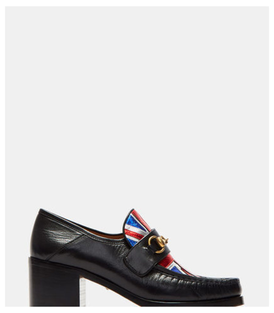 Mid Heel Union Jack Moccasin Shoes