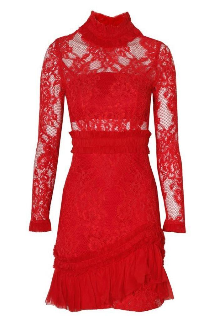 Wilhemina Dress Red