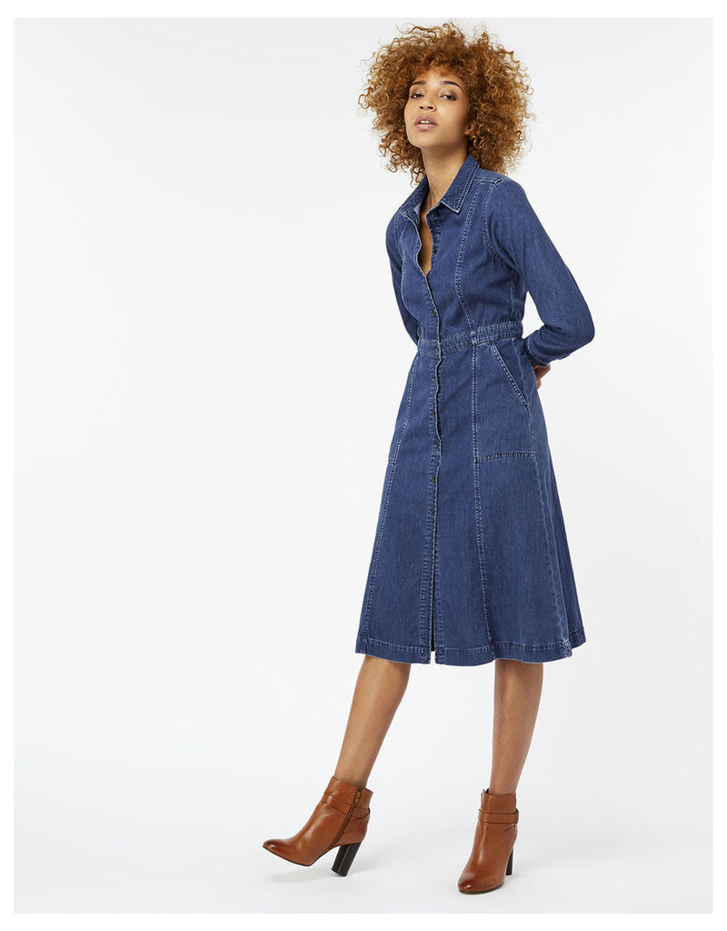 Faye Midi Denim Dress