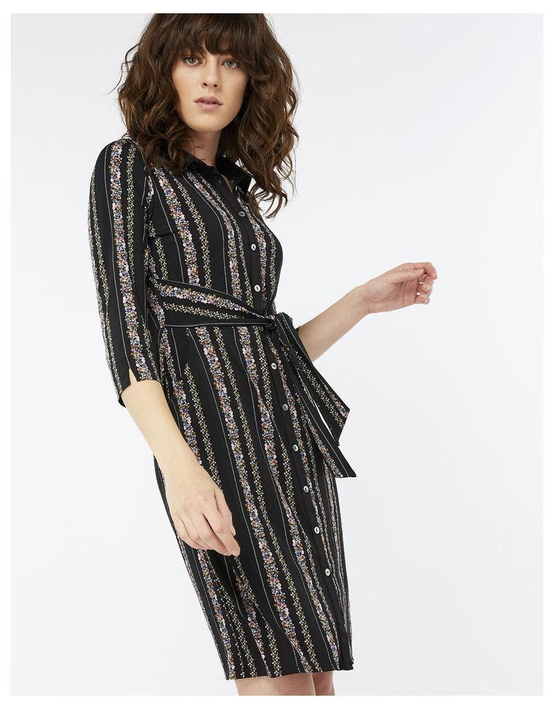 Flora Stripe Printed Dress