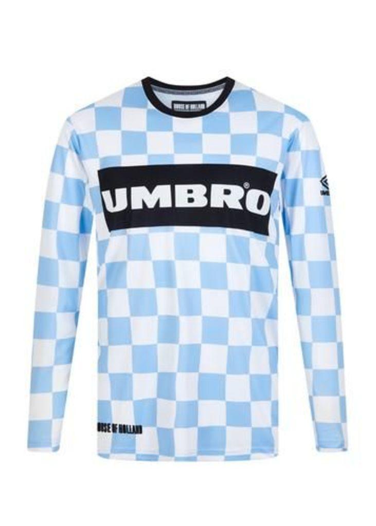 Umbro Checkerboard Long Sleeved Football Poly Viscose