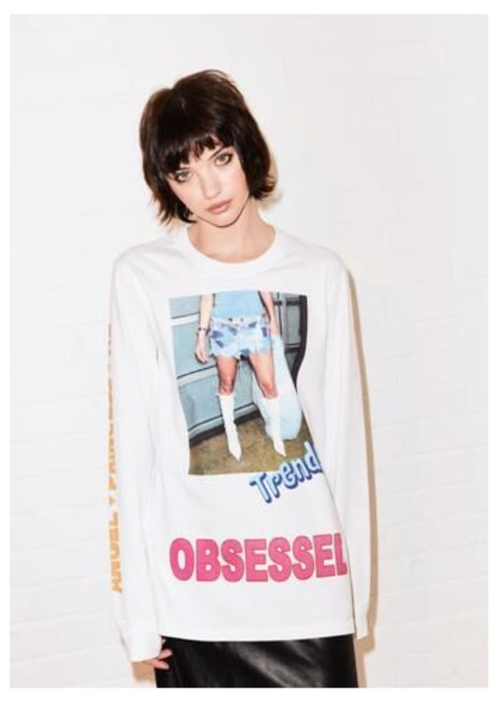 @shesvague 'Obsessed' long sleeve tee