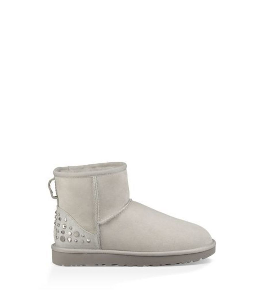 UGG Mini Studded Bling Womens Boots Grey Violet 3