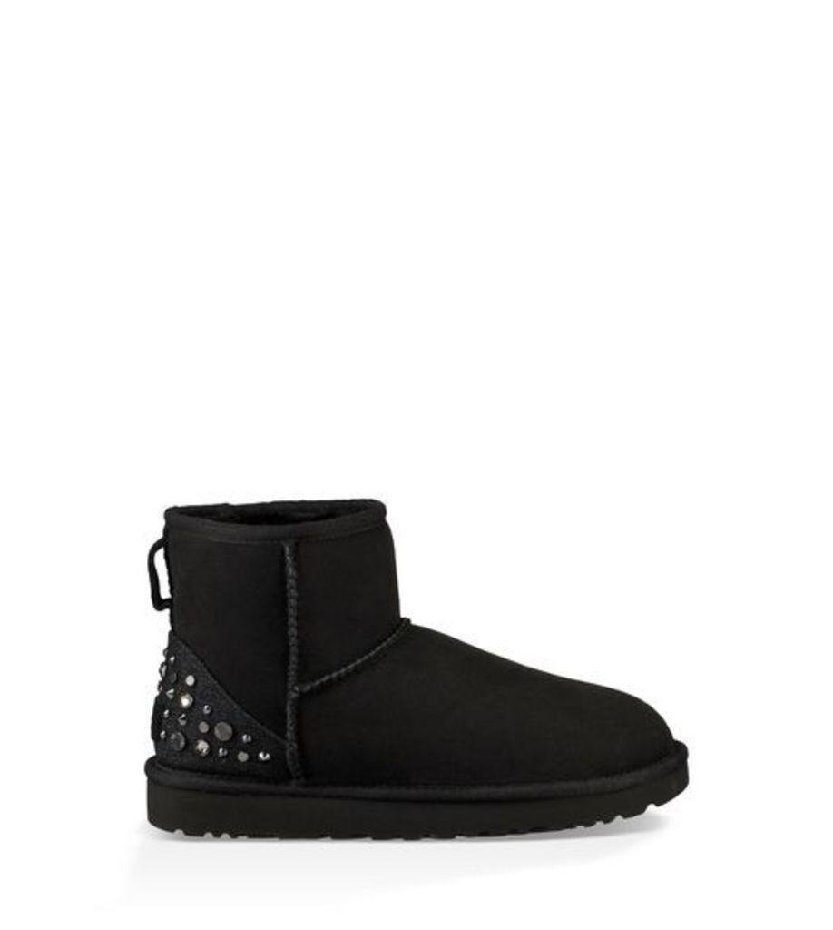 UGG Mini Studded Bling Womens Boots Black 8