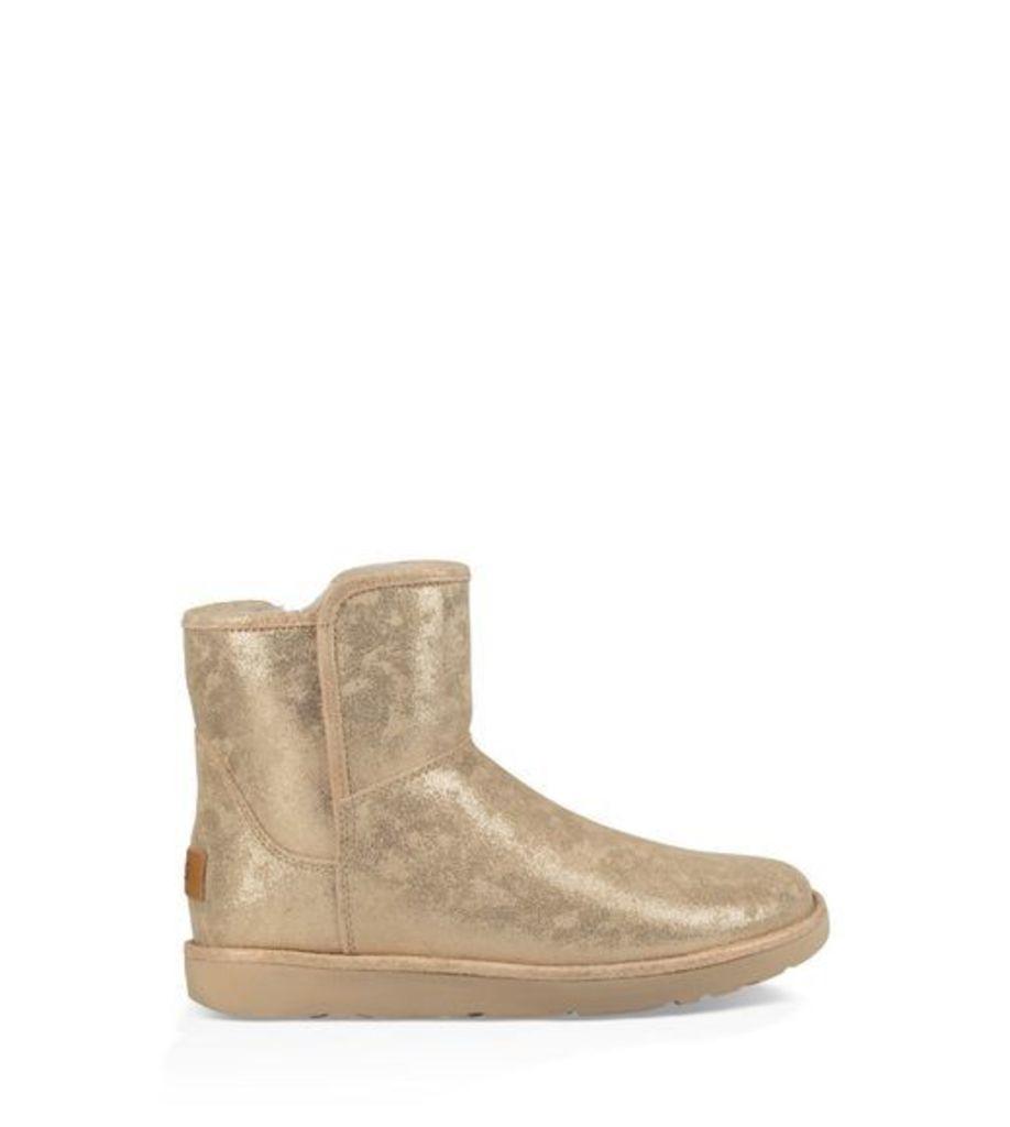 UGG Abree Mini Stardust Womens Boots Metallic Gold 6