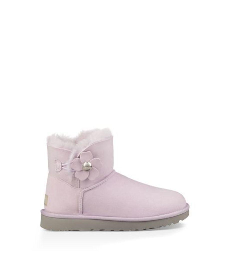 UGG Mini Bailey Button Poppy Womens Boots Lavender Fog 3