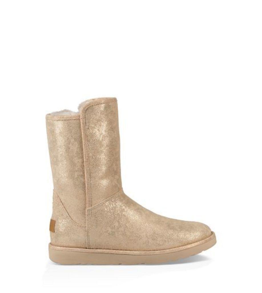 UGG Abree Short Ii Stardust Womens Boots Metallic Gold 3