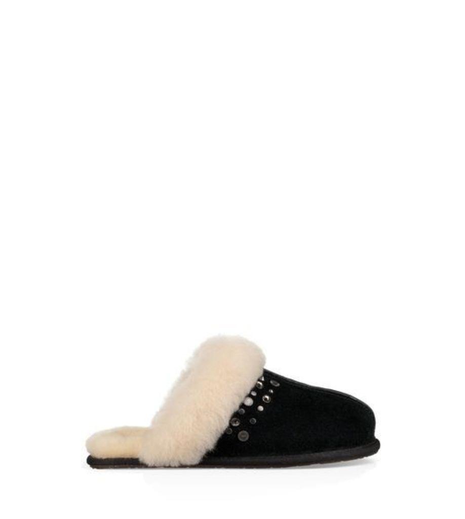 UGG Scuffette Ii Studded Bling Womens Slippers Black 8