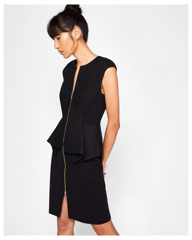 Ted Baker Structured zip detail dress Black
