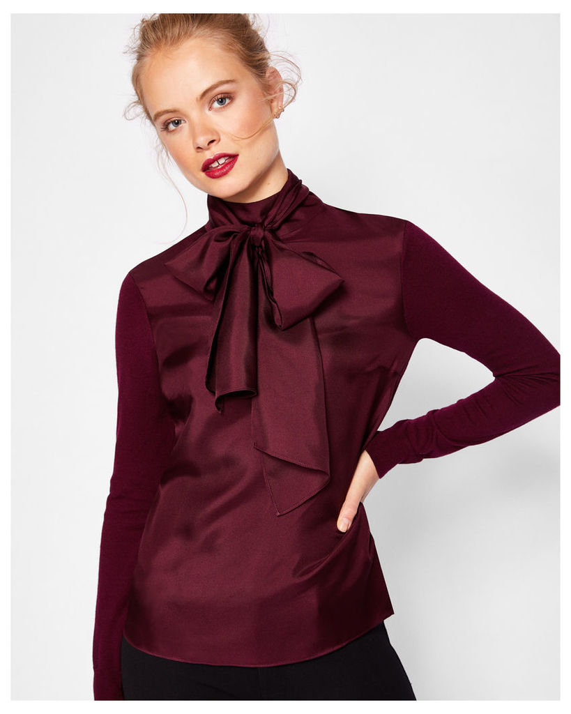 Ted Baker Cashmere and silk-blend jumper Maroon