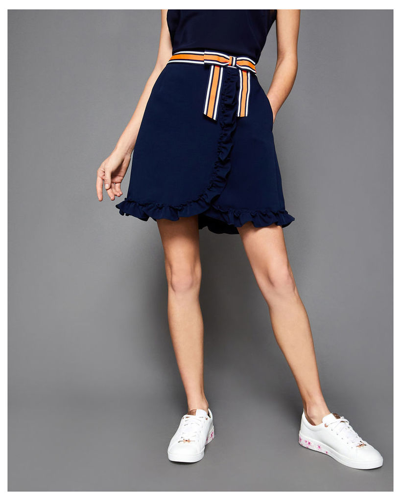 Ted Baker Bow mini skirt Navy