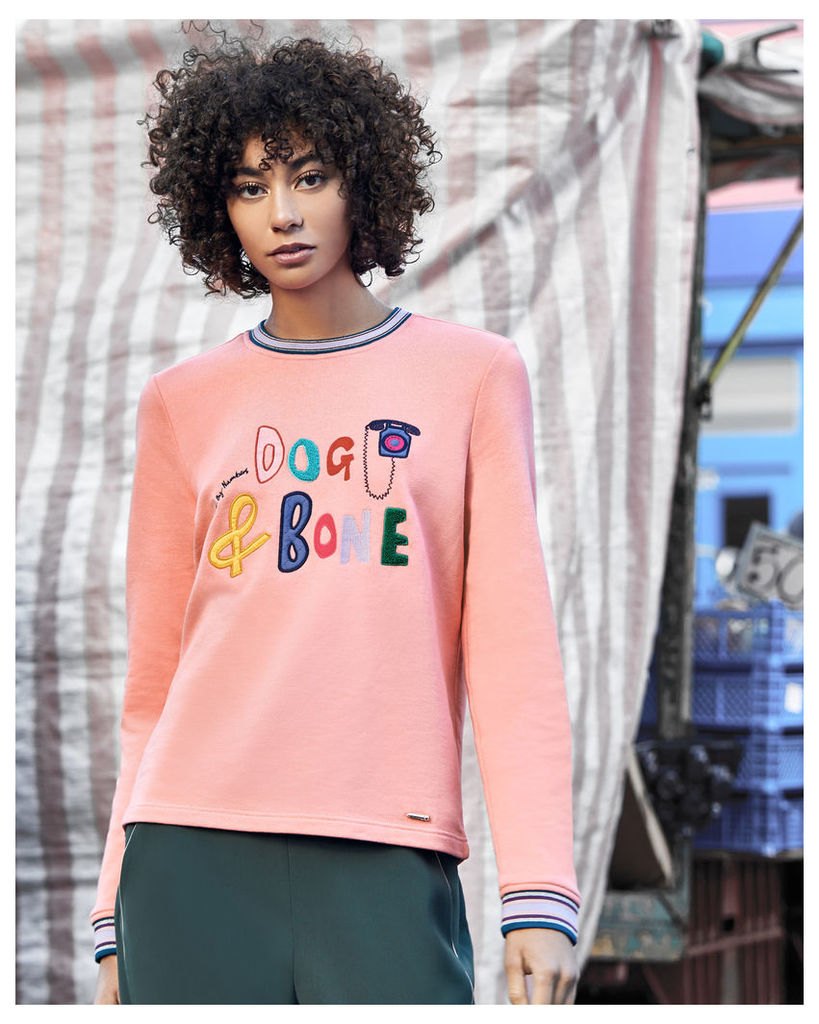 Ted Baker 'Dog and Bone' sweatshirt Coral