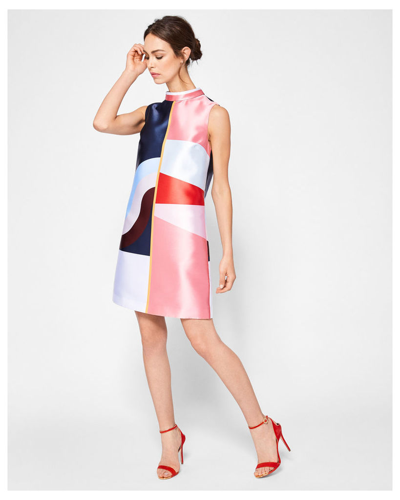 Ted Baker Colour-block tunic dress Mid Blue