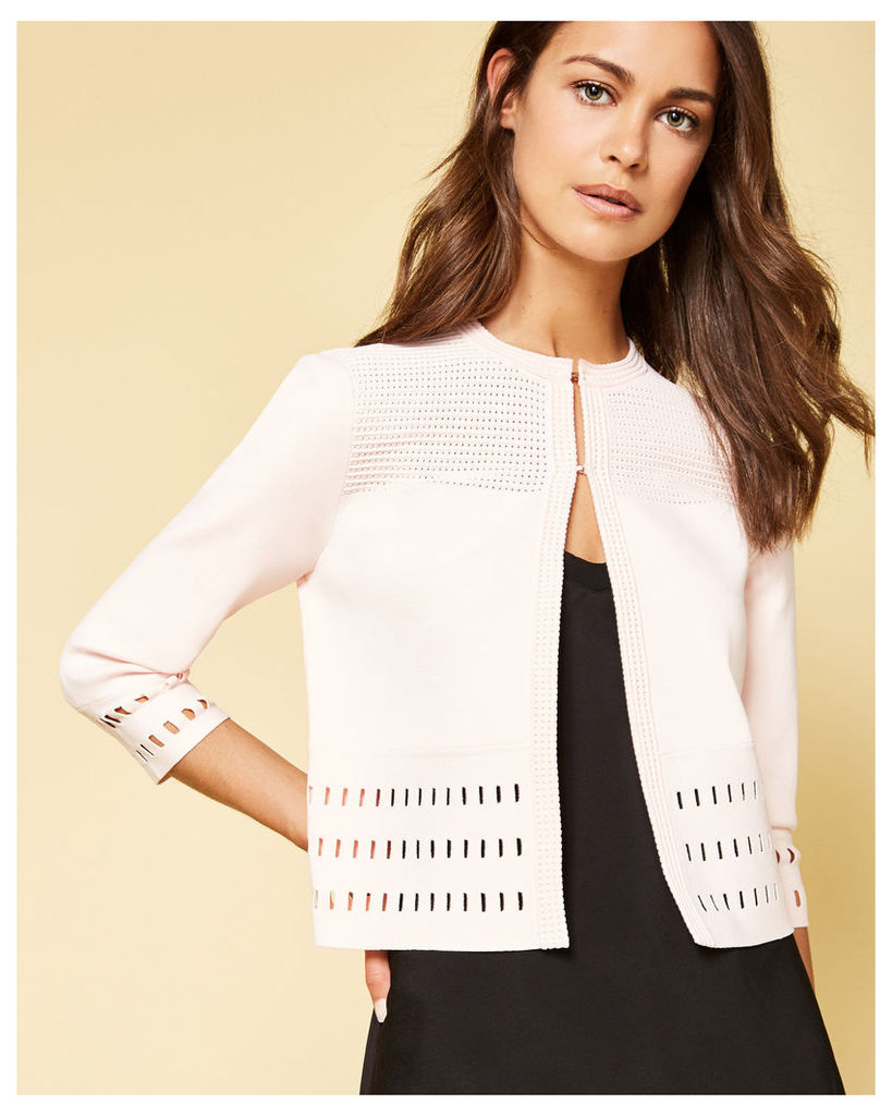 Ted Baker Cut-work cardigan Pink
